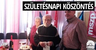 Győri MSZP - Születésnapi köszöntés