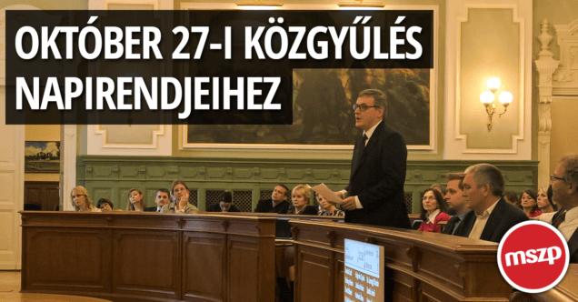 MSZP Győr Október 27-i közgyűlés napirendjeihez